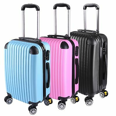 "20"" Expandable Carry On Luggage Travel Bag Trolley Suitcase 360° Rolling Wheel"