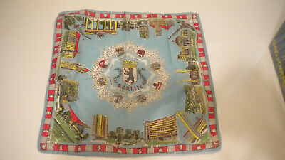 Vintage BERLIN Germany HANKIE Very Colorful & Lots of Places Pictured
