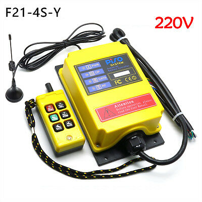 220V Industrial Wireless Remote Controller 500M Electric Hoist Controller F21-4S