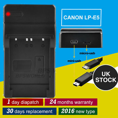New USB LP-E5 Battery Charger Dock For Canon EOS 450D 500D 1000D SLR Camera UK