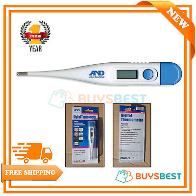 A&D Digital Thermometer LCD Baby Adult Pet Oral, Underarm or Rectal - UT103