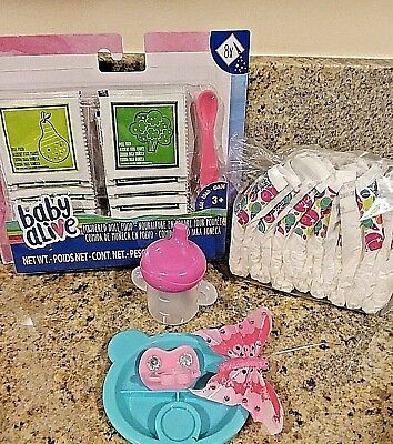 Baby Alive Refill Food Diapers , Sippy Cup, Pacifier, Hair Clip For  Spoonfuls