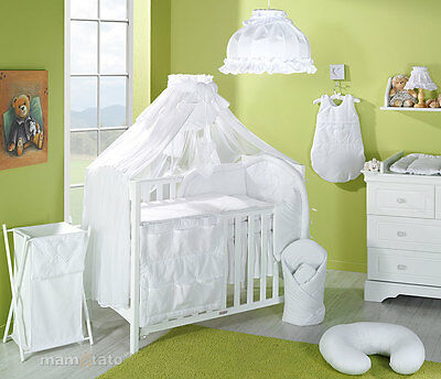 STUNNING BABY COT/COT BED CANOPY DRAPE/ MOSQUITO NET BIG 485cm+HOLDER/ROD CLAMP