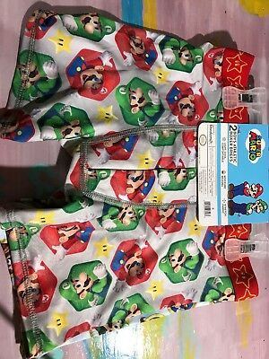 2 BOYS Athletic Boxer Briefs Super Mario Size 8