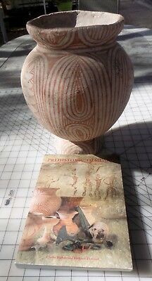 Antique, 400 BC-200 AD Thai Ban Chiang Style Decorated Earthenware Jar with Book