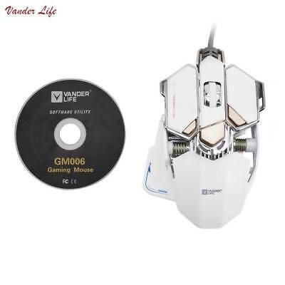 4000DPI E-sports Gaming Mouse 10-keys USB Wired Gamer Laptop Computer Mice New