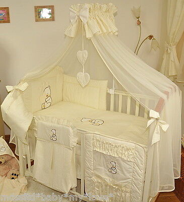 LUXURY CANOPY DRAPE/mosquito net +FREE STANDING HOLDER for BABY COT or COT BED