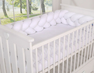 BABY NURSERY CRIB COT BUMPER  COT or COT BED/ KNOT BUMPER BRAIDED / PLAIT /NEST