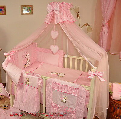 LUXURY CANOPY DRAPE /MOSQUITO NET  +FREE STANDING HOLDER for BABY COT or COT BED