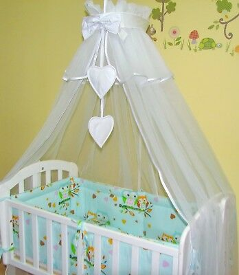 BLUE OR PINK VOILE CANOPY. NEW ZEBRA CRADLE  SWINGING CRIB BEDDING SET WHITE