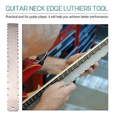1x Guitar Neck Notched Straight Edge Luthiers Tool for Most Electric Guitars TS