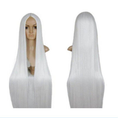 Women Long Straight Hair Wig Synthetic Anime Party Cosplay Wigs Props Fashion UK