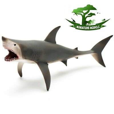 GREAT WHITE SHARK (OPEN JAW) - CollectA 88729 - Sealife Fish Model Toy - New
