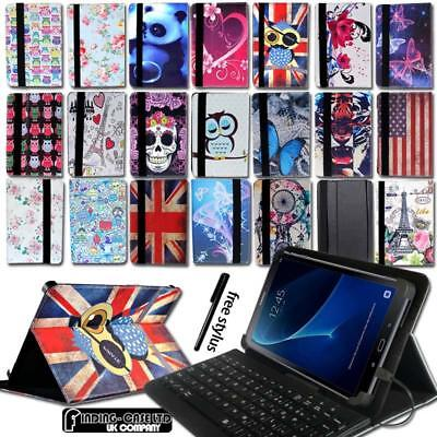 "Leather Stand Cover Case + Keyboard For 7"" 8"" 10"" Samsung Galaxy Tab A A6 Tablet"