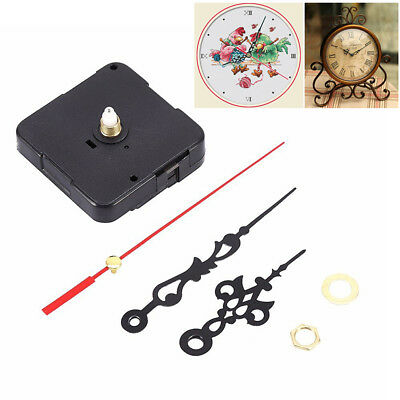Black Wall Clock Quartz Movement Mechanism Hand Replacement Parts Set Kit