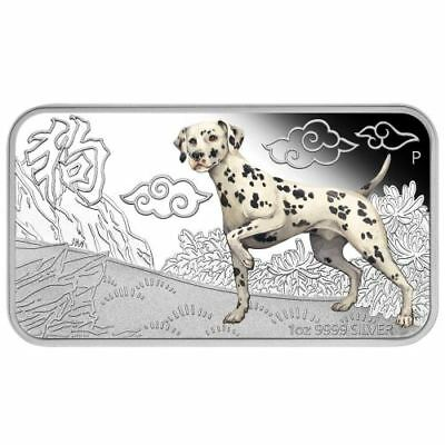 NEW Perth Mint - 2018 Lunar Year of the Dog 1oz Pure Silver Four-Coin Set