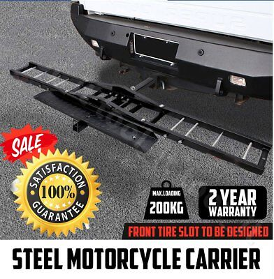 "Motorcycle Motorbike Carrier Rack 2"" Towbar Arm Rack Dirt Bike Ramp Steel H"