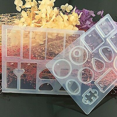 UV Resin Liquid Silicone Mold Craft DIY Jewelry Earrings Necklace Making Mould