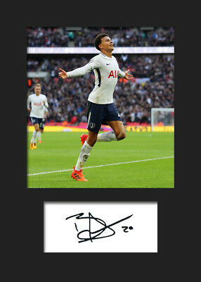 Dele Alli #1 - Tottenham Hotspur Signed Photo A5 Mounted Print - FREE DELIVERY