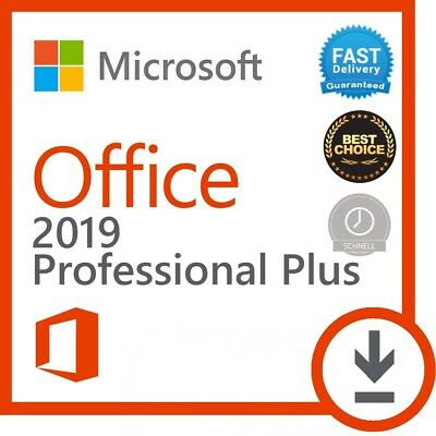 Microsoft Office 2019 Professional Plus ✔ Pro Plus ✔ 32/64✔ Vollversion lizenz✔