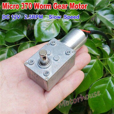 Micro DC 12V 2.5RPM Slow Speed High Torque Metal Turbo Worm Gear Motor Reducer