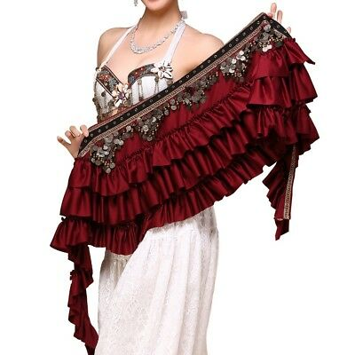 2018 New Belly Dance Hip Scarf Belt Wrap Coins Bellydance Tribal Clothes Gpysy