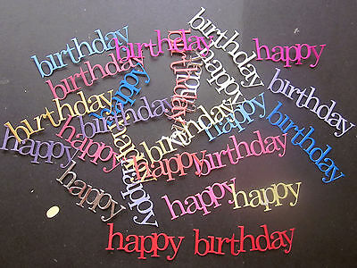Die Cuts Happy Birthday 12 Cardstock Large Many Colours