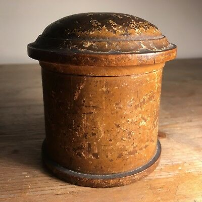 Vintage WOODEN POT with Lid - ROYAL MAIL Shipping