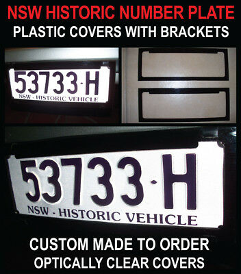 Nsw Historic Vehicle Number Plate Covers (Optically Clear Acrylic)