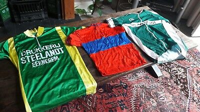 Job lot of 15 vintage and modern European cycling jerseys