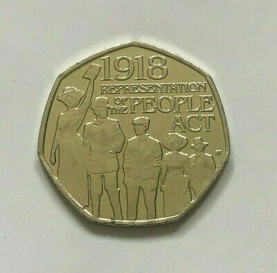 CHEAPEST 2018 THE PEOPLE ACT 1918 50p COINS FIFTY PENCE COIN