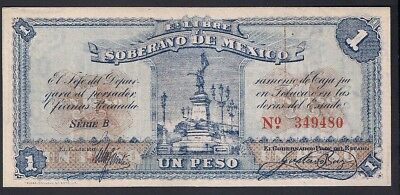 MEXICO 1 Peso 1915 State & Municipal Issue P.S881, M2812b, Uncirculated Unc