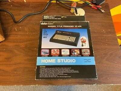 Datavideo VP-270 Home Studio Screen Title Producer