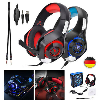 3.5mm Led Light Gaming Headset Xbox One Headsets,PS4,PC Headset With Microphone