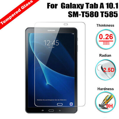 For Samsung Galaxy Tab A 10.1 SM-T580 Tempered Glass Screen Protector Cover New