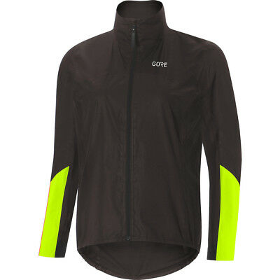 Gore Wear Women's C7 Gore-Tex Shakedry Viz Jacket - Black/Neon Yellow