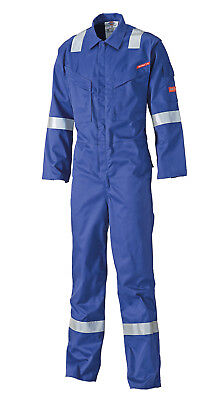 Dickies Lightweight Flame Retardant Pyrovatex Coveralls Royal Blue (All Sizes)