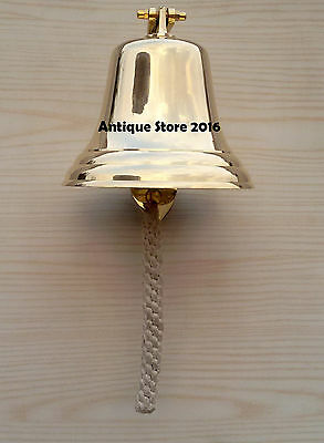 Vintage Brass Nautical Bell & Decorative Wall Mount Decor Boat Marine Ship Gift