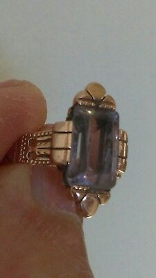 Antique Victorian Rose Gold amethyst ring