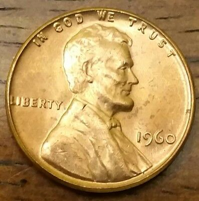 1960 LINCOLN MEMORIAL CENT PENNY AU Very Nice Higher Grade