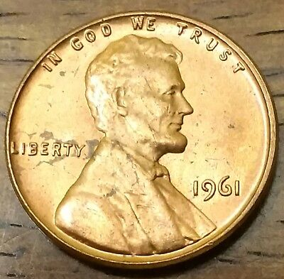 1961 LINCOLN MEMORIAL CENT PENNY AU Very Nice Higher Grade