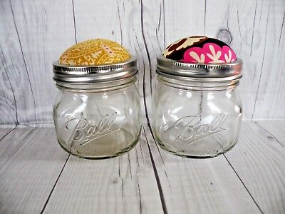 Pin Cushion Ball Jar-Handmade Pin Cushion-Button Jar-Gift