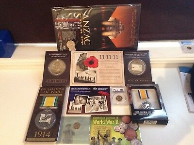 Coins, Stamps And Medals. War Related Items.