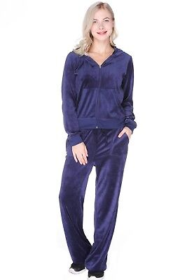 Convenience Goods Tracksuits & Sets Juicy Couture Velour Large Tracksuit Outfit Hoodie Set Black New!!