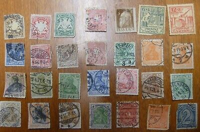 Lot of 28 Old Germany Bavaria and Saxony Stamps