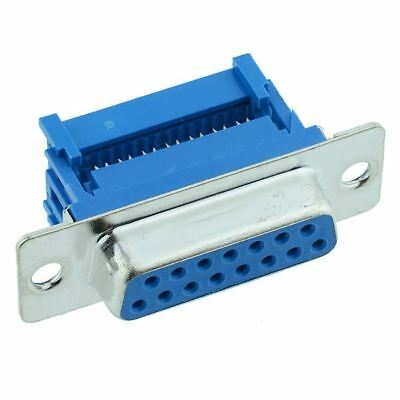 15-Way IDC Female D Socket Connector