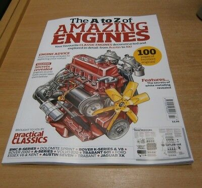 Practical Classics magazine The A to Z of Amazing Engines; Deconstructed & Explo