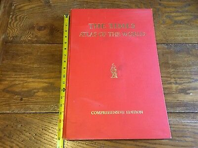 1967 THE TIMES ATLAS OF THE WORLD COMPREHENSIVE EDITION Color MAPS Print London