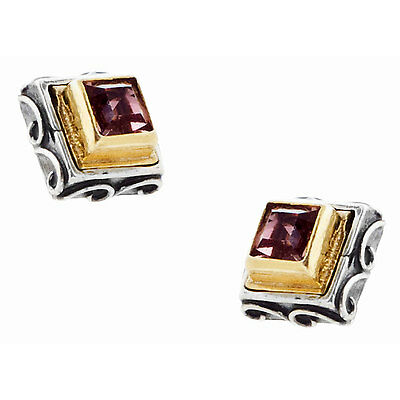 S232 ~ Sterling Silver & Swarovski Medieval Stud Earrings