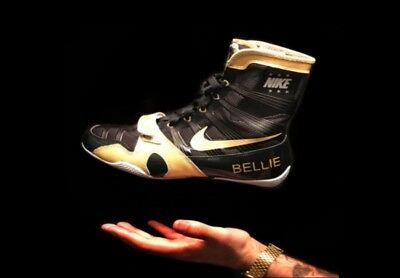 Nike Customised Hyper KO boxing boots with Gold Highlights